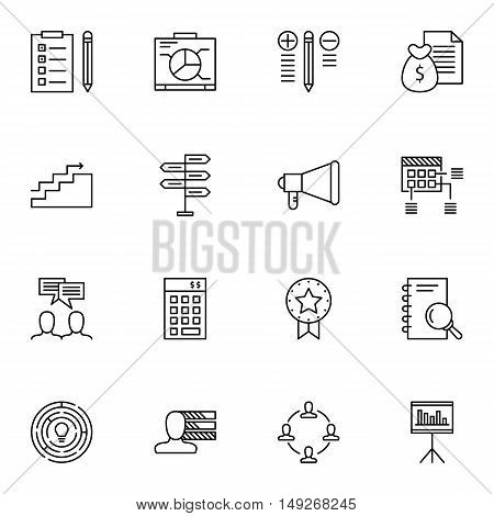 Set Of Project Management Icons On Research, Money Revenue, Creativity And More. Premium Quality Eps