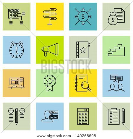 Set Of Project Management Icons On Planning, Promotion, Workspace And More. Premium Quality Eps10 Ve