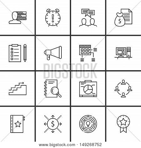 Set Of Project Management Icons On Charts, Task List, Quality Management And More. Premium Quality E