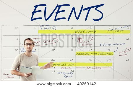 Agenda Timetable Calendar Schedule Graphic