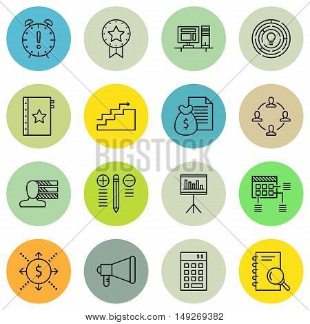 Set Of Project Management Icons On Quality Management, Promotion, Award And More. Premium Quality Ep