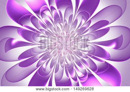 Beautiful lush fractal flower. Artwork for creative design art and entertainment.