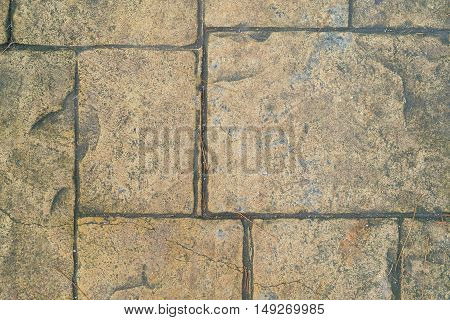 The Red granite floor texture and background.