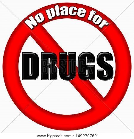 Stop drugs. Red sign