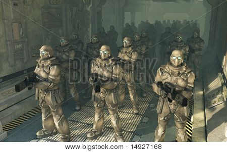 Space Marines - waiting to disembark