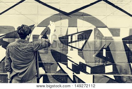 Graffiti Street Art Culture Spray Abstract Concept
