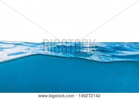 Water waves from ocean isolated on white background