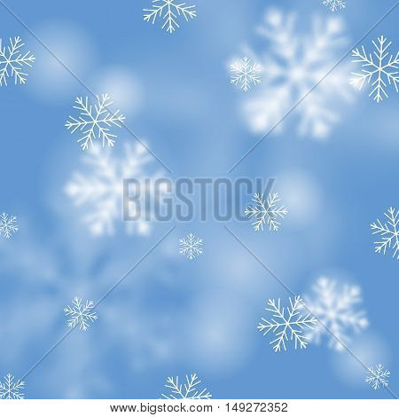Winter Card With Snowflakes