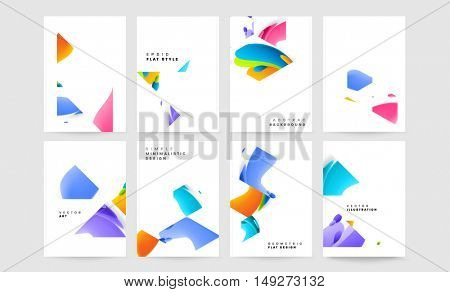 Abstract Background Design with Liquid Bubbles Shapes, Brochure Template Layout for Annual Report or Business Presentation Design. A4 Booklet. Circle Structures. Vector Illustration.