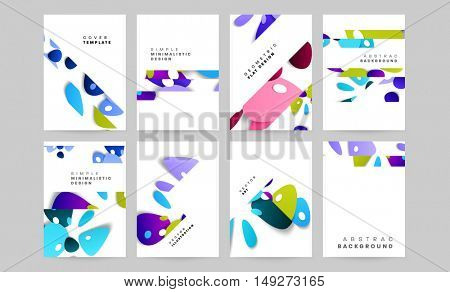 Annual report brochure template, Leaflet cover presentation, Flyer abstract flat background design for trendy brochure covers, A4 layout vector.