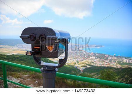Binoculars With Wonderful View, Gray Binoculars For Viewing, Seacoast