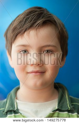 Portrait of a boy with eyes of different colors