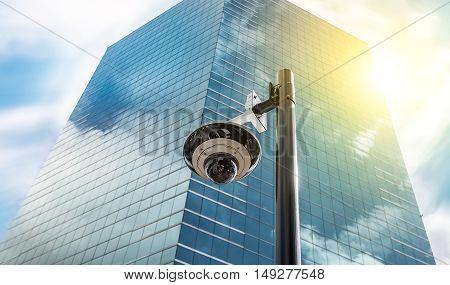Security CCTV ip camera in office building