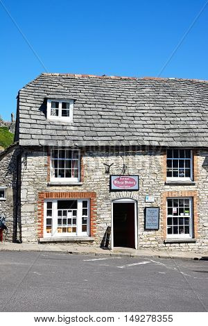 CORFE, UNITED KINGDOM - JULY 19, 2016 - The village bakery in the centre of the village Corfe Dorset England UK Western Europe, July 19, 2016.
