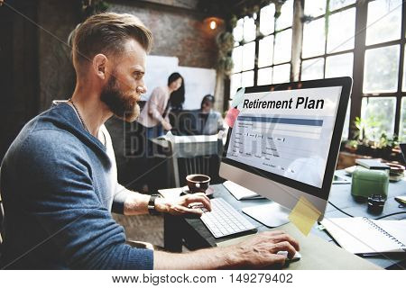 Retirement Plan Financial Help Concept