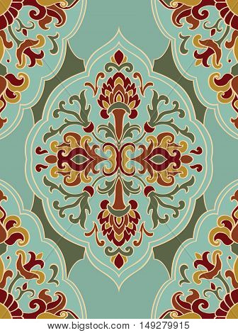Oriental abstract ornament. Template for wallpaper carpet textile and any surface. Seamless vector pattern.