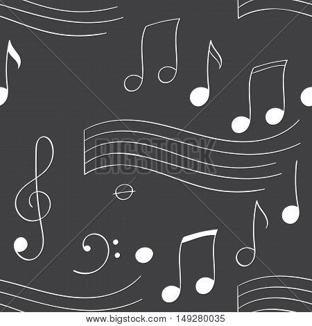 Seamless pattern with music notes vector illustration