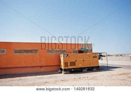 Hurghada, Egypt -20 August 2016: Caterpillar Cat Electric Power Generation