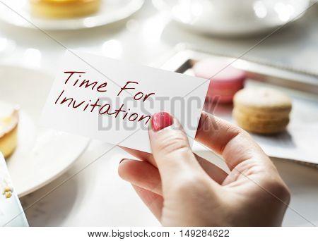 Card Tag Label Invitation Words Concept