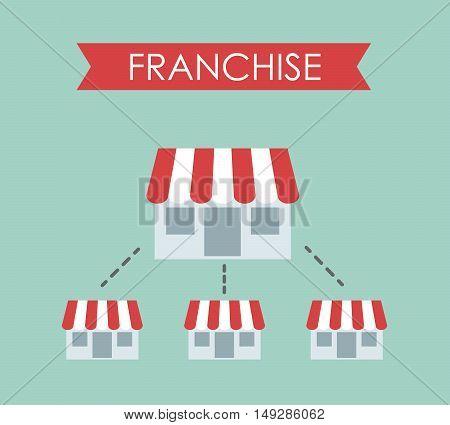 Business concept, Franchise business. Vector illustration eps 10.