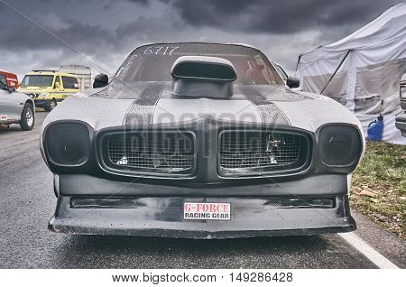 Norway Drag Racing, Car Race  Front View