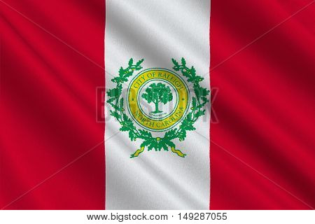 Flag of Raleigh is the capital of the state of North Carolina United States. 3D illustration