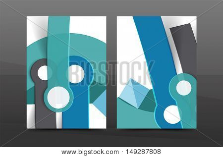 Annual report cover. Geometric abstract background. Brochure, flyer template layout, leaflet