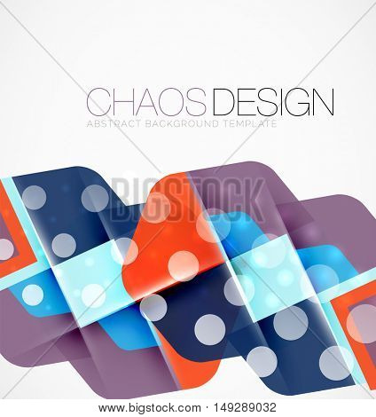 Geometric vector abstract background, light and shadow effects with transparent shapes