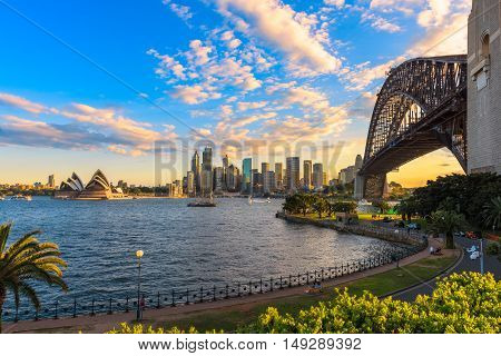 Sydney Harbour Bridge and Sydney Opera House NSW Australia. Sep 28,2016 the Sydney Opera House is one of the modern building, well known worldwide.