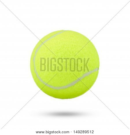 Tennis Ball On White Background. Tennis Ball Isolated. Green Color Tennis Ball. Single Tennis Ball.