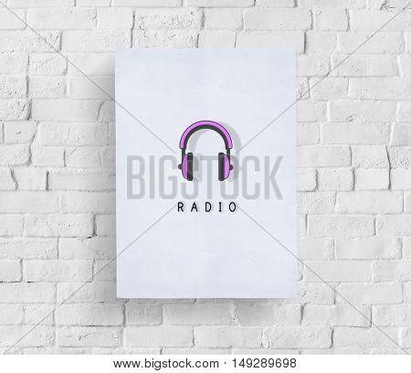 Headphone Audio Music Listen Graphic Concept