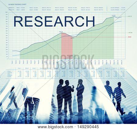 Research Graphs Business Marketing Goals concept