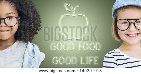 Good Food Good Life Concept