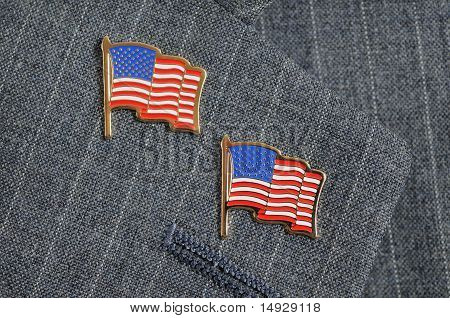 Two Flag Pins