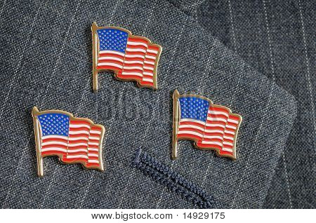 Three Flag Pins