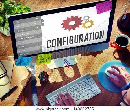 Configuration Settings Setup Tools Concept