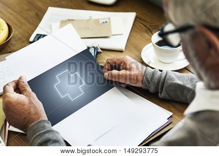 Paper Healthcare Wellness Senior Adult Concept