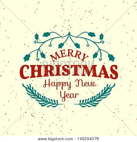 Beautiful vintage Christmas greeting card design. Easy to manipulate, re-size or colorize.