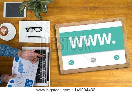 Web Design Website Concept (www)