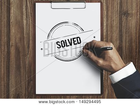 Solved Problems Ideas Creativity Brainstorming Concept