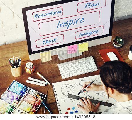 Inspire Be Creative Fresh Ideas Concept