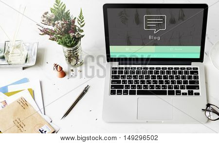 Blog Online Design Website Concept