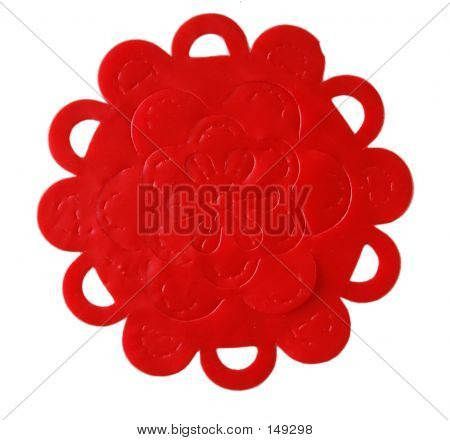 Red Plastic Flower