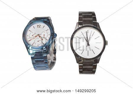 image of wristwatch isolated on white background