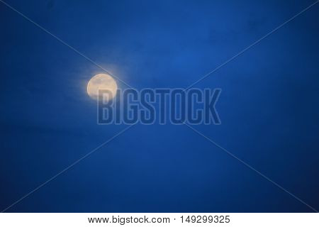 night sky with beautiful moon, for background