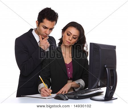 Couple Working On A Computer