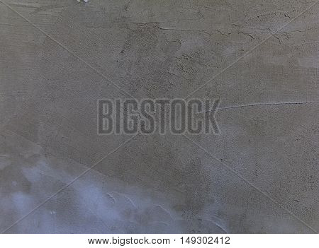 Details of a Plain Grunge Concrete Wall Background With Darkened Edges