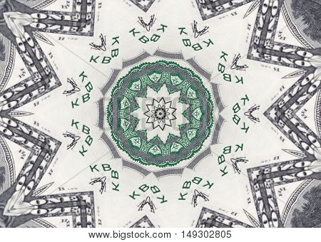 Background from a variety of hundred-dollar bills. Money money. Dollars background. Counterfeit money. Kaleidoscope