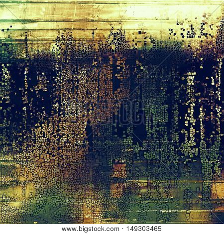 Retro grunge vintage background or weathered antique texture with different color patterns: yellow (beige); brown; gray; green; blue; purple (violet)