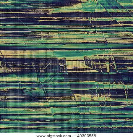 Retro vintage colored background with noise effect; grunge texture with different color patterns: yellow (beige); gray; green; blue; cyan